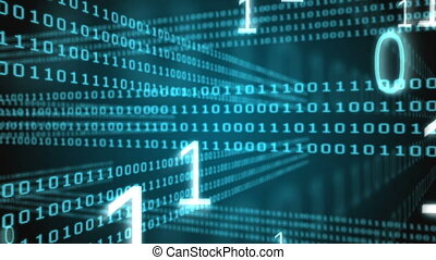 video, code, digitaal, binair, genereren
