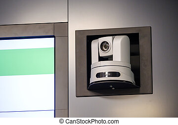 Video conference camera at the meeting hall
