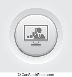 Video Conference Icon. Business Concept