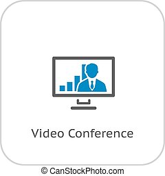 Video Conference Icon.