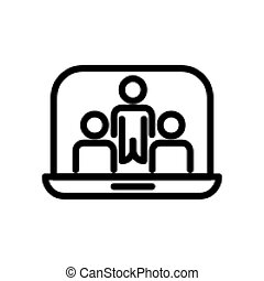 Video conference icon vector illustration Isolated On white Background