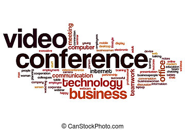 Video conference  word cloud