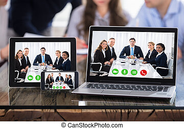 Video Conferencing On An Electronic Devices