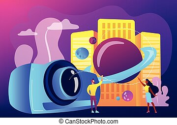 Video design concept vector illustration.