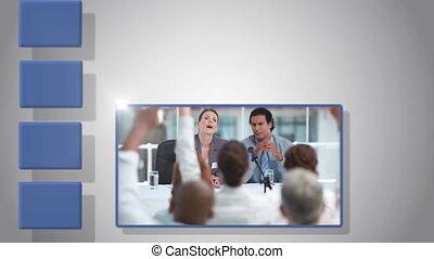 video, di, riunione