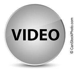 Video elegant white round button