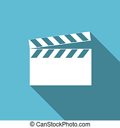 video flat icon cinema sign
