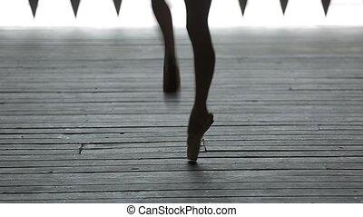 graceful ballerina dancing feet - Video footage graceful...