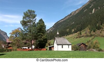 Chapel in Mountain Village, Austria - video footage of a...