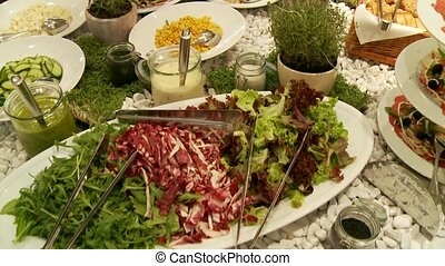 salad bar - video footage of a salad bar