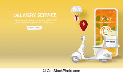 Video Footage of smartphone with Online delivery service ...