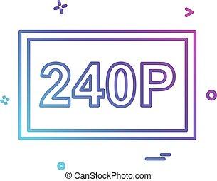 Video frame icon design vector