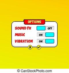 video game asset menu icon button layer vector art
