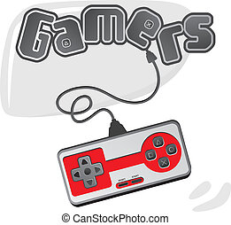 video game console theme art vector graphic art design...