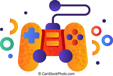 Video game controller, gamepad vector Illustration on a white background