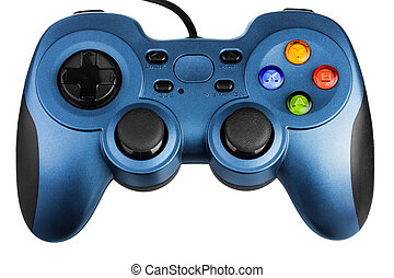 Video game controller, isolated on white background
