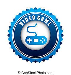 video game design over white background vector illustration