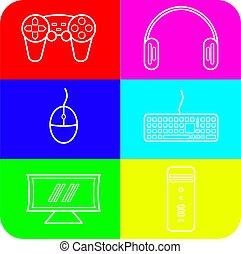 Video Game icon set bundle