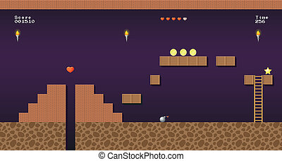 Video game location, arcade games - 8-bit video game...