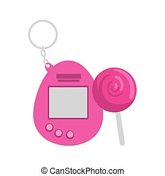 video game mascot of nineties with lollipop