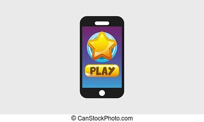 video game online - video game smartphone hand touch play...
