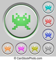 Video game push buttons
