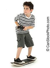 Video Game Skateboard Player Child