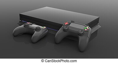 Video games console controller. 3d illustration