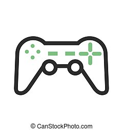 Video Games - Games, video games, d pad icon vector image. ...