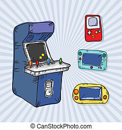 Video Games Icons ( Arcade Machine, Retro Console and ...