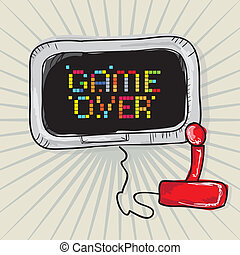 Video Games Icons - Game Over (video games screenand ...