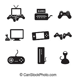 video games icons over white background vector illustration