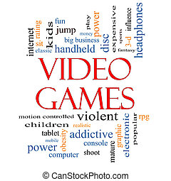 Video Games Word Cloud Concept