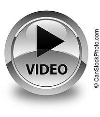 Video glossy white round button