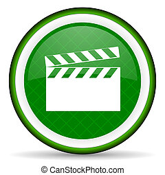 video green icon cinema sign