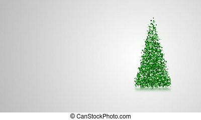 Video greeting card with merry christmas and new year...