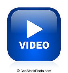 video icon - blue glossy computer icon