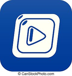 Video icon blue vector
