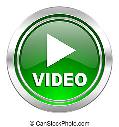 video icon, green button