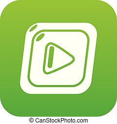 Video icon green vector