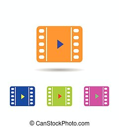 video icon. isolated on white background