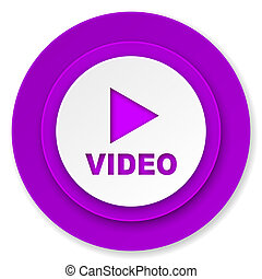 video icon, violet button