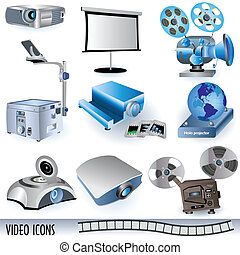 Video icons - A collection of variety video icons easy...