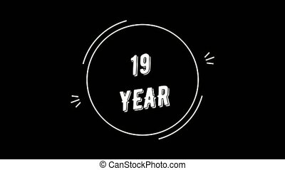 Video in retro style. Congratulations on 19 year - Video...