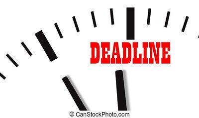 video, klok, deadline., ultra, animatie, hd, footage., ...