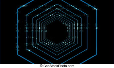 video, lijnen, concentrisch, digitale , genereren