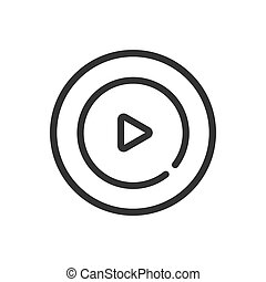 Video line icon on a white background