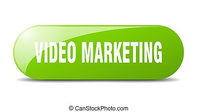 video marketing button. sticker. banner. rounded glass sign