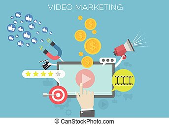 Video Marketing Concept - detailed illustration of a Video...