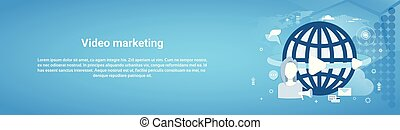 Video Marketing Concept Horizontal Web Banner With Copy Space
